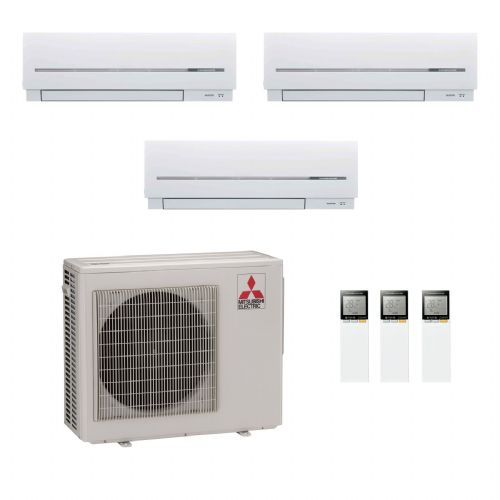 Mitsubishi Electric Air Conditioning MXZ-4D83VA 3 x 3.5Kw MSZ-SF35VE Multi Room Wall Air Conditioning A 240V~50Hz